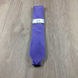 Van Heusen Purple Circle Pattern Air Tie